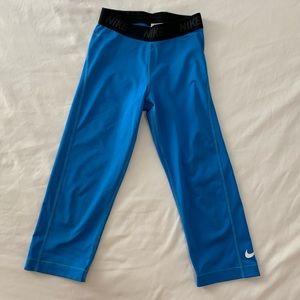 blue nike capris workout leggings